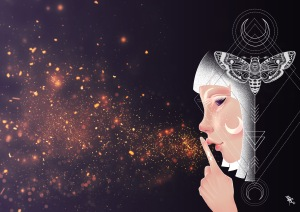 digital painting which represents silence