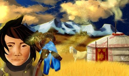 digital painting from book la legende d'altan