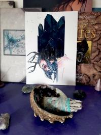 fantasy illustration elf crystal tourmaline