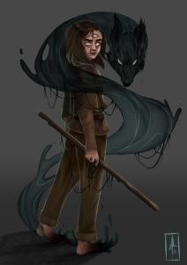Game of Throne, Arya Stark, Wolf, Magic