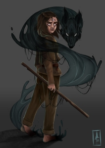 Game of Throne, Arya Stark, Wolf, Magic